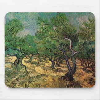 Van Gogh; Olive Grove, Vintage Impressionism Art Mouse Pads
