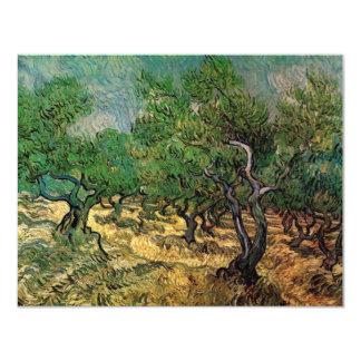 Van Gogh Olive Grove, Vintage Landscape Fine Art 11 Cm X 14 Cm Invitation Card