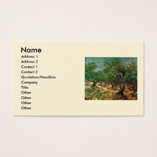 Van Gogh Olive Grove, Vintage Landscape Fine Art Business Card