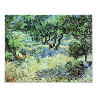 Van Gogh Olive Grove, Vintage Trees Fine Art 11 Cm X 14 Cm Invitation Card