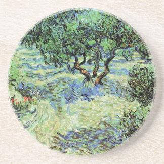 Van Gogh Olive Grove, Vintage Trees Fine Art Coaster