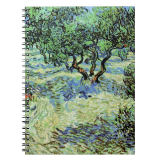 Van Gogh Olive Grove, Vintage Trees Fine Art Notebook