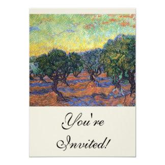 Van Gogh Olive Grove with Orange Sky Cards