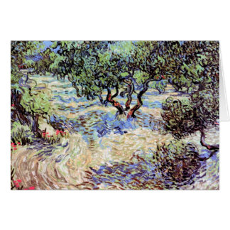 Van Gogh - Olive Orchard Greeting Card