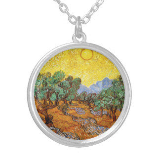 Van Gogh Olive Trees Necklace