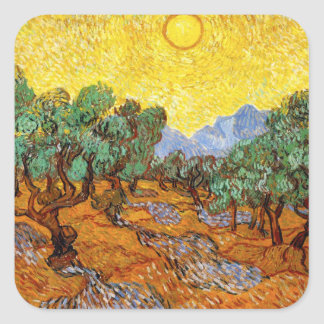 Van Gogh Olive Trees Stickers