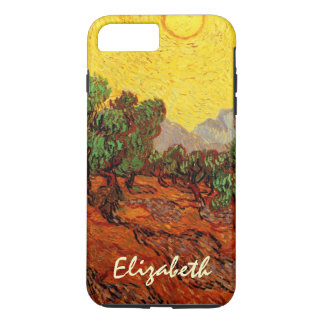 Van Gogh Olive Trees with Yellow Sky Sun, Fine Art iPhone 8 Plus/7 Plus Case