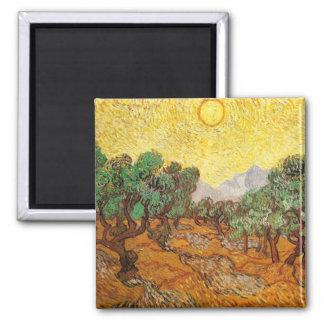 Van Gogh Olive Trees Yellow Sky Sun F710 Refrigerator Magnet