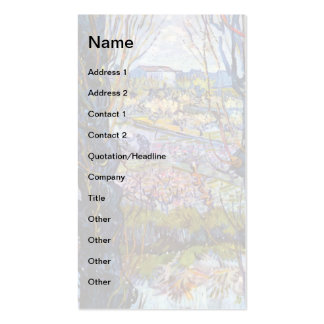 Van Gogh – Orchard In Bloom With Poplars Business Card Templates