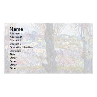 Van Gogh – Orchard In Bloom With Poplars Business Card