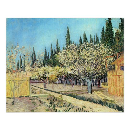 Van Gogh Orchard in Blossom, Bordered by Cypresses