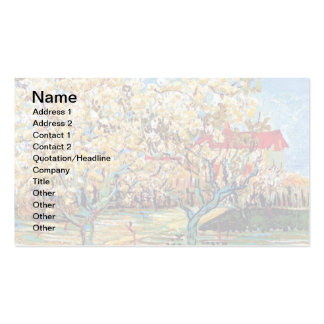 Van Gogh - Orchard In Blossom Business Card Template