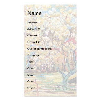 Van Gogh - Orchard In Blossom Business Card Templates