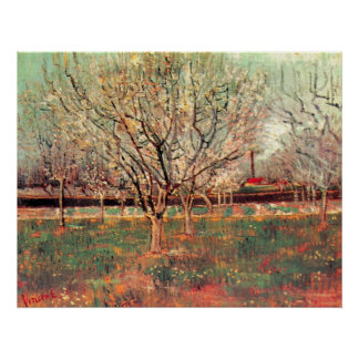 Van Gogh Orchard in Blossom Vintage, Fine Art Poster