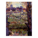 Van Gogh Orchard in Blossom with View of Arles Post Card