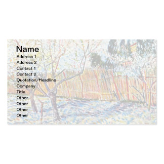 Van Gogh - Orchard with Peach Trees in Blossom Business Card Templates