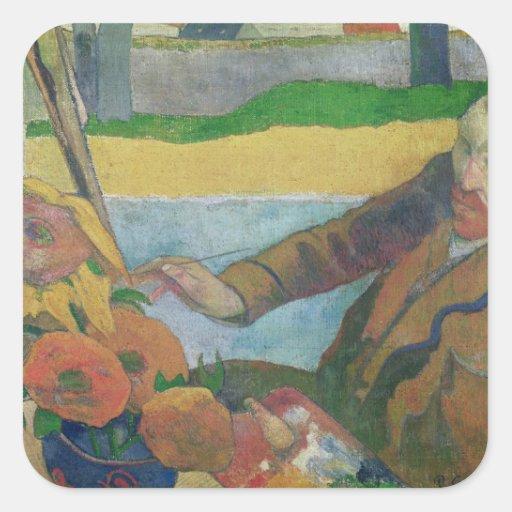 Van Gogh painting Sunflowers, 1888 Sticker