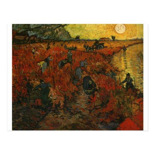 Van Gogh Painting: The Red Vineyard Post Card