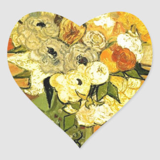 Van Gogh Painting Whimsical Blossoms Flowers Vines Sticker