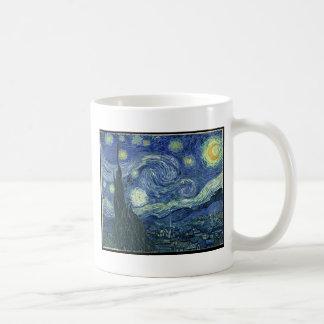 Van Gogh Paintings: Starry Night Van Gogh Basic White Mug