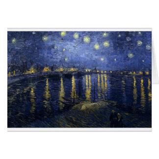 Van Gogh Paintings: Starry Night Van Gogh Rhone Card
