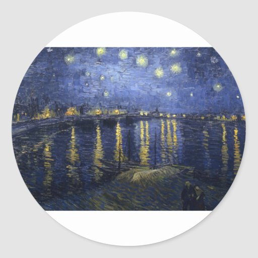 Van Gogh Paintings: Starry Night Van Gogh Rhone Stickers