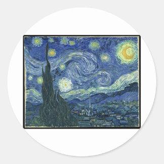 Van Gogh Paintings: Starry Night Van Gogh Round Sticker
