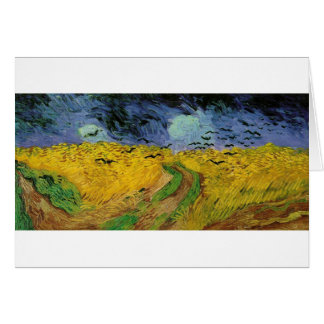 Van Gogh Paintings: Van Gogh Wheat Field Card