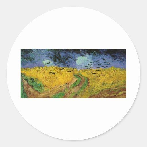 Van Gogh Paintings: Van Gogh Wheat Field Sticker