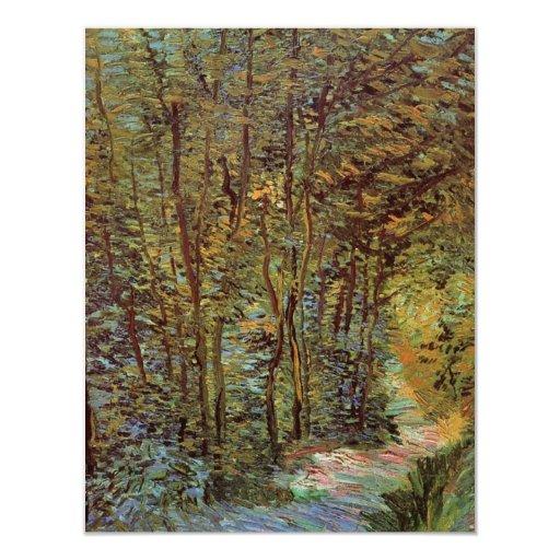 Van Gogh Path in the Woods, Vintage Fine Art 11 Cm X 14 Cm Invitation Card