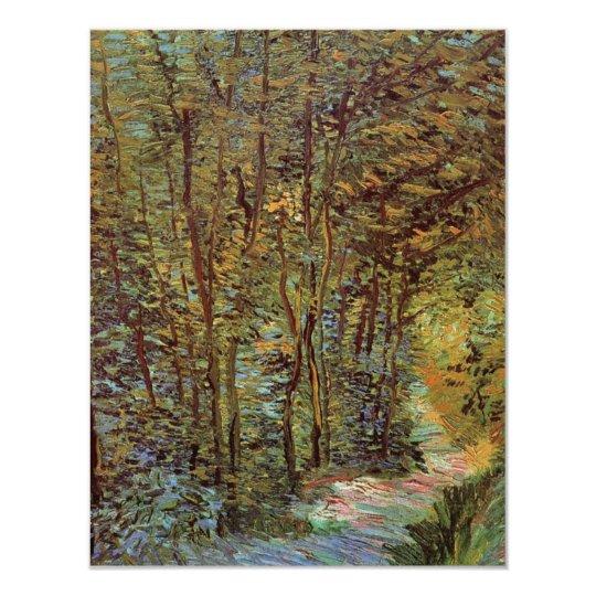 Van Gogh Path in the Woods, Vintage Fine Art Card