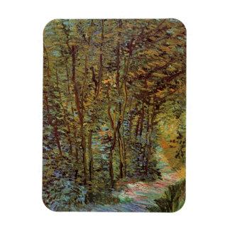 Van Gogh Path in the Woods, Vintage Fine Art Rectangular Photo Magnet