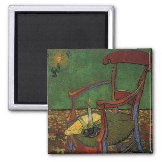 Van Gogh Paul Gauguin's Armchair, Vintage Art Square Magnet