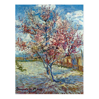 Van Gogh Peach Tree (F394) Fine Art Postcard