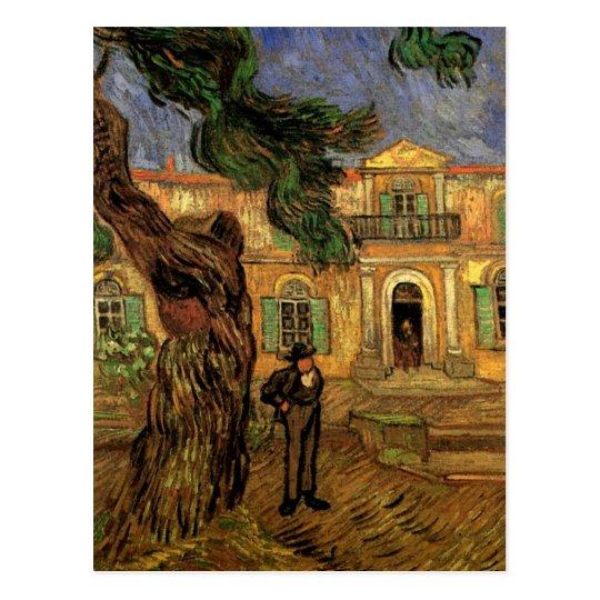 Van Gogh Pine Trees Figure Garden St Paul Hospital Postcard