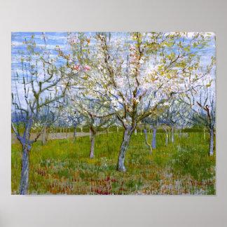 Van Gogh Pink Orchard (F555) Fine Art Print