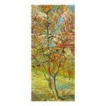 Van Gogh Pink Peach Tree in Blossom, Fine Art Customised Rack Card