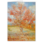 Van Gogh Pink Peach Tree in Blossom Greeting Card