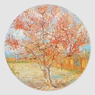 Van Gogh Pink Peach Tree in Blossom Stickers