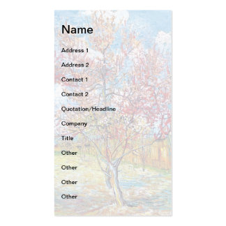 Van Gogh - Pink Peach Trees Business Cards