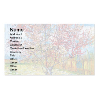 Van Gogh - Pink Peach Trees Business Card