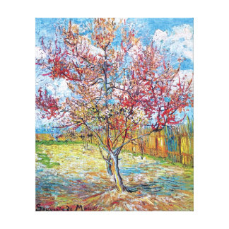 Van Gogh - Pink Peach Trees Canvas Print