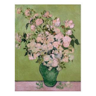 Van Gogh Pink Roses (F682) Fine Art Postcard