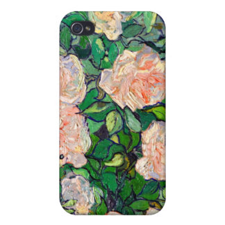 Van Gogh Pink Roses iPhone 4 Case For iPhone 4