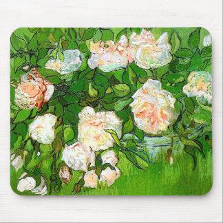 Van Gogh Pink Roses Mouse Pad