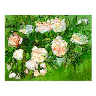 Van Gogh Pink Roses Postcard