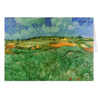 Van Gogh Plain Near Auvers, Vintage Fine Art Card