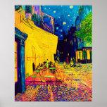 Van Gogh Pop Art Cafe Terrace At Night Poster