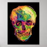 Van Gogh Pop Art Skull Poster