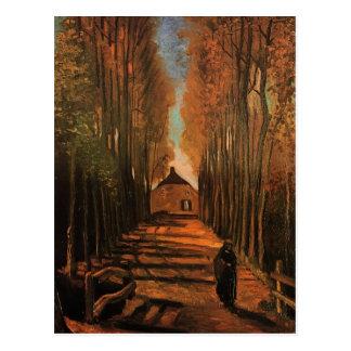 Van Gogh Poplars in Autumn Fine Art Postcard